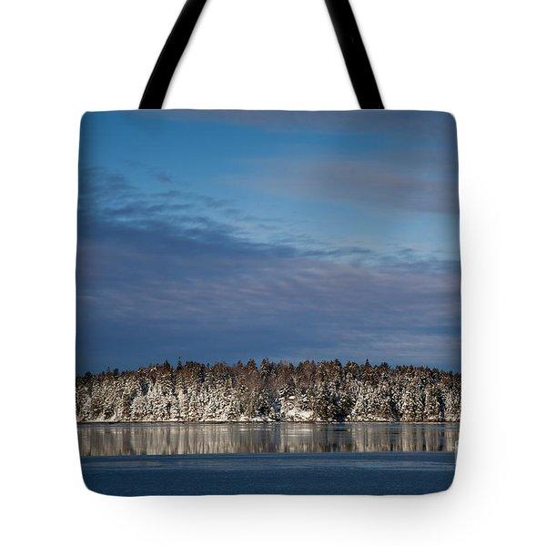 Winter On Taunton Bay Tote Bag