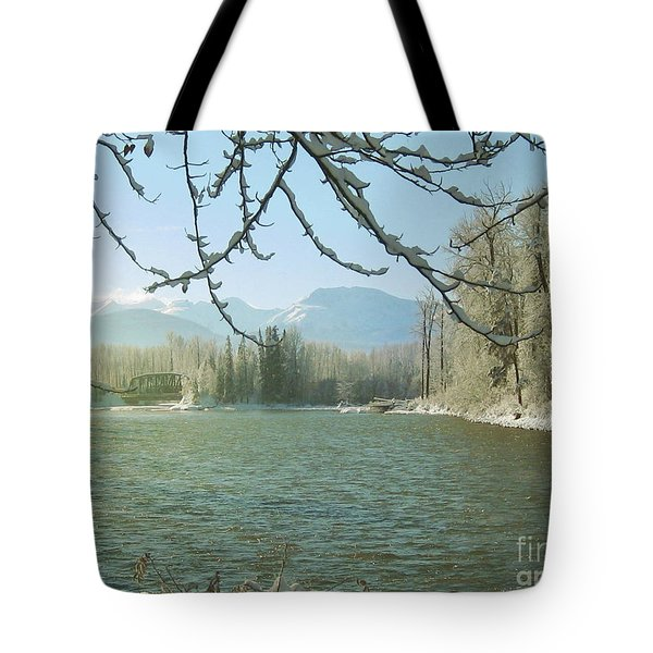 Winter On The Bulkley Tote Bag