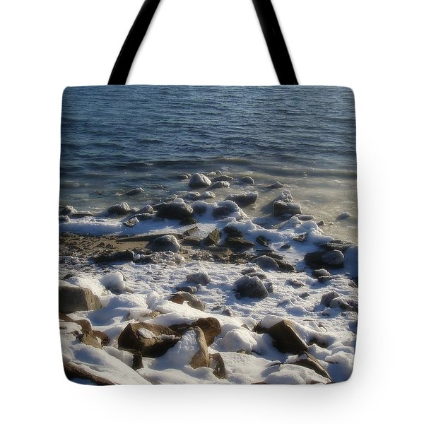 Tote Bag featuring the photograph Winter On The Long Island Sound by Kristine Nora