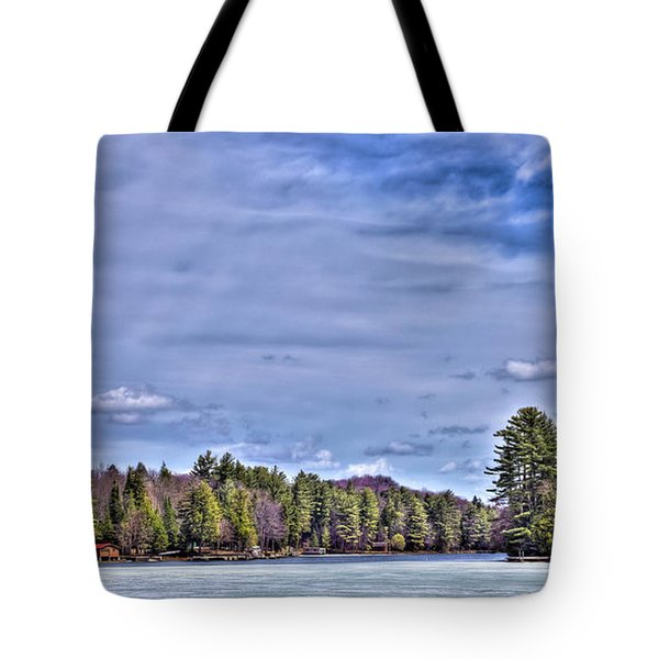 Tote Bag featuring the photograph Winter On The Pond by David Patterson