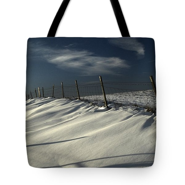 Winter On The South Downs Tote Bag