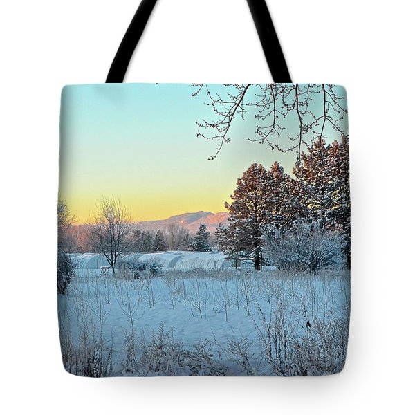 Winter On The Tree Farm Tote Bag
