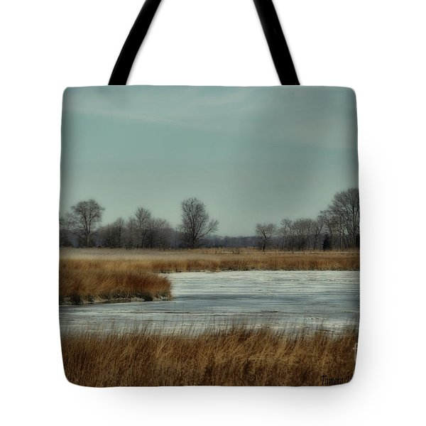 Winter On The Water Tote Bag by Tamera James