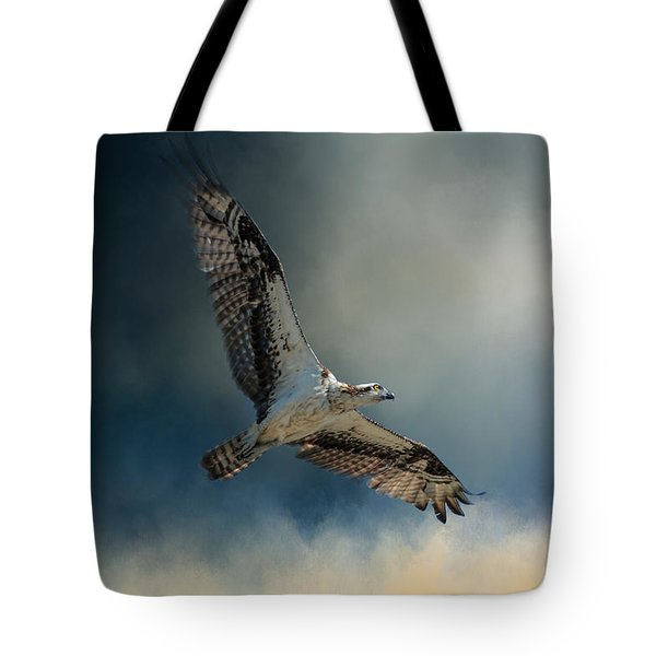 Winter Osprey Tote Bag by Jai Johnson
