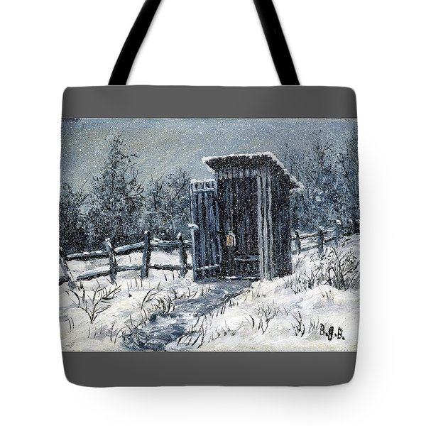Winter Outhouse #2 Tote Bag