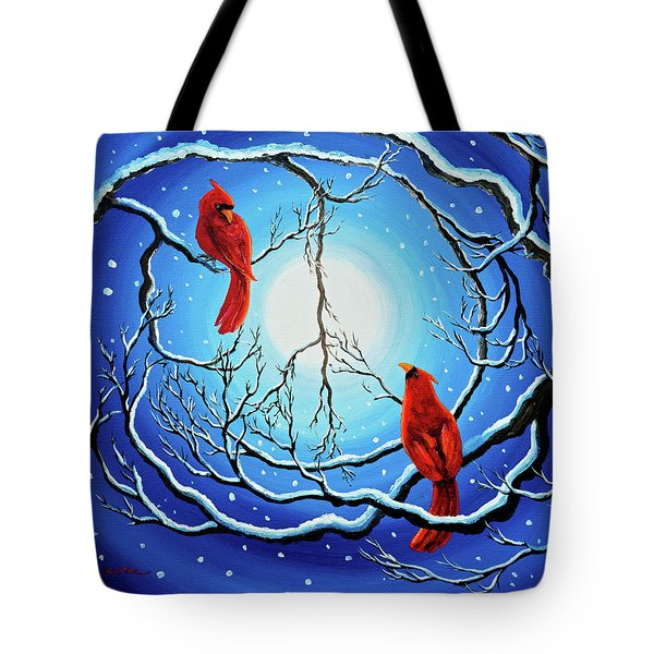 Winter Peace Tote Bag by Laura Iverson