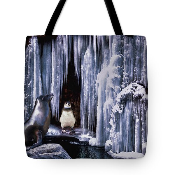 Winter Playground Tote Bag
