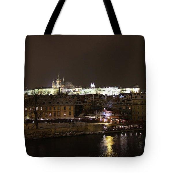 Winter Prague Tote Bag