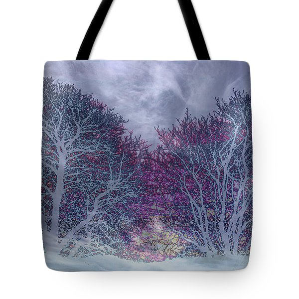 Tote Bag featuring the photograph Winter Purple by Nareeta Martin