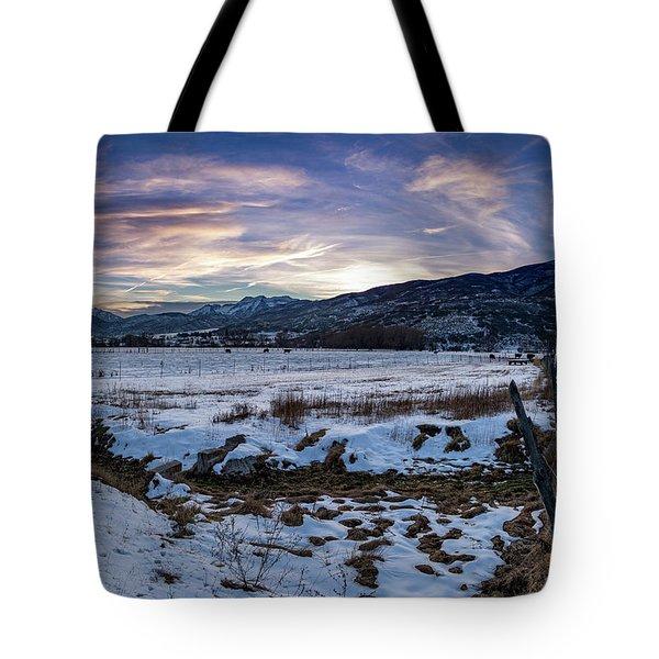 Sunset Range Tote Bag
