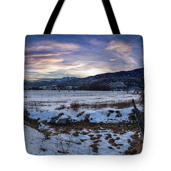 Sunset Range Tote Bag