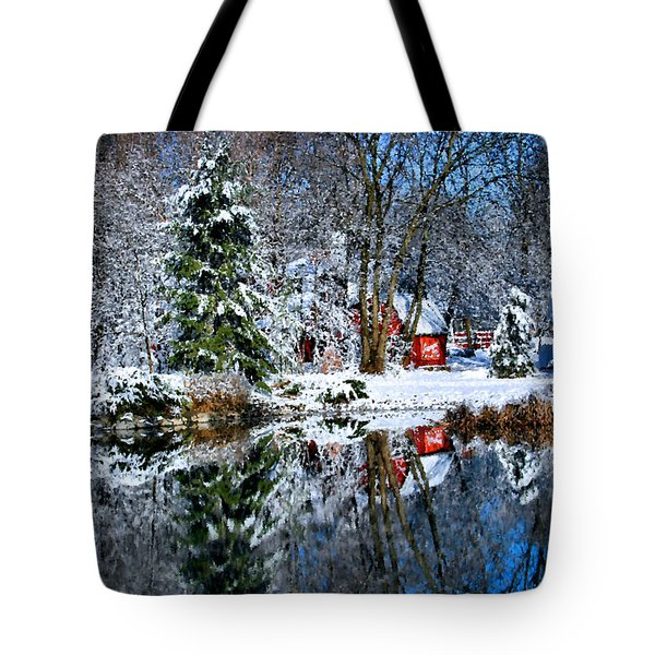 Winter Reflection Tote Bag by Kristin Elmquist