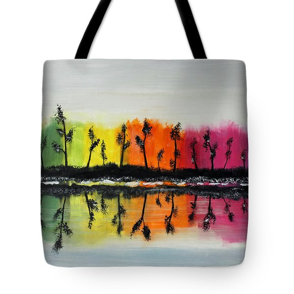 Winter Reflections Tote Bag by Jack G  Brauer