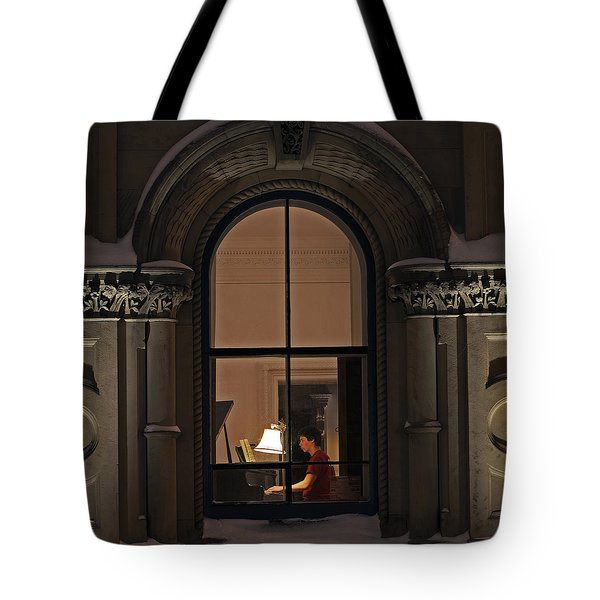 Tote Bag featuring the photograph Winter Rehearsal by Stephen Flint
