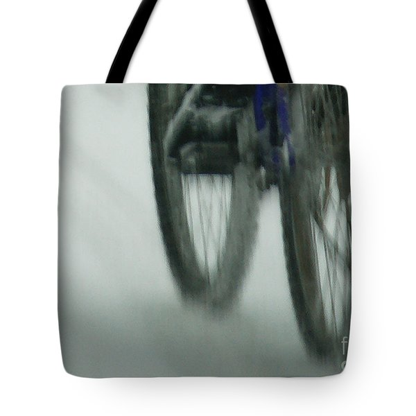 Winter Ride Tote Bag by Linda Shafer