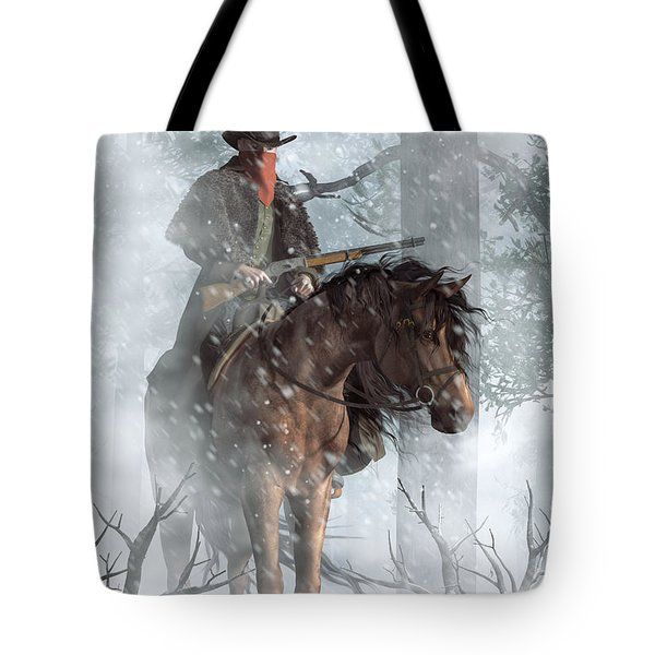 Winter Rider Tote Bag
