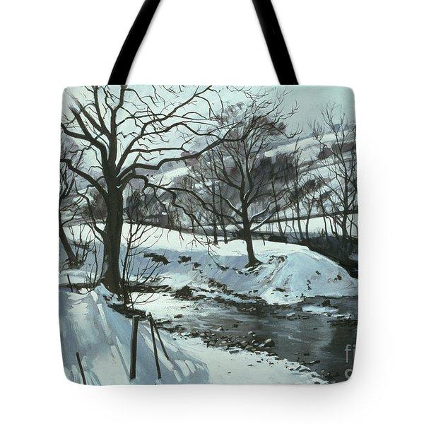 Winter River Tote Bag by John Cooke