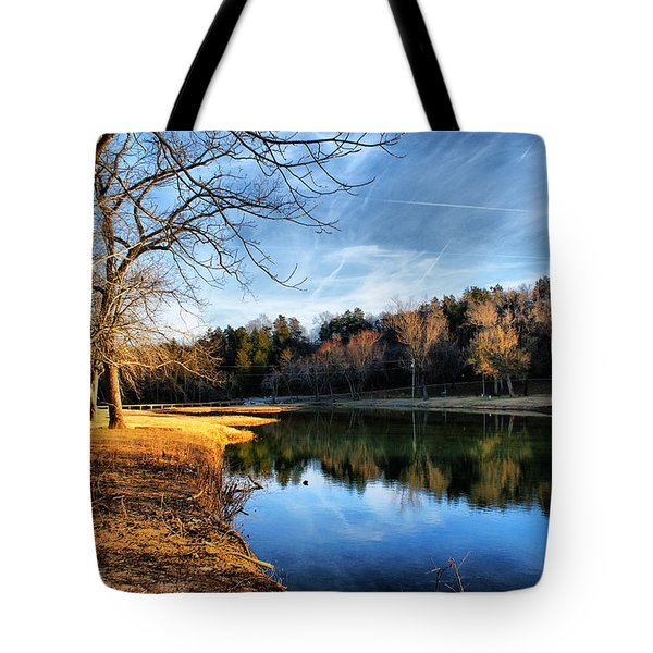 Winter River Tote Bag by Rick Friedle