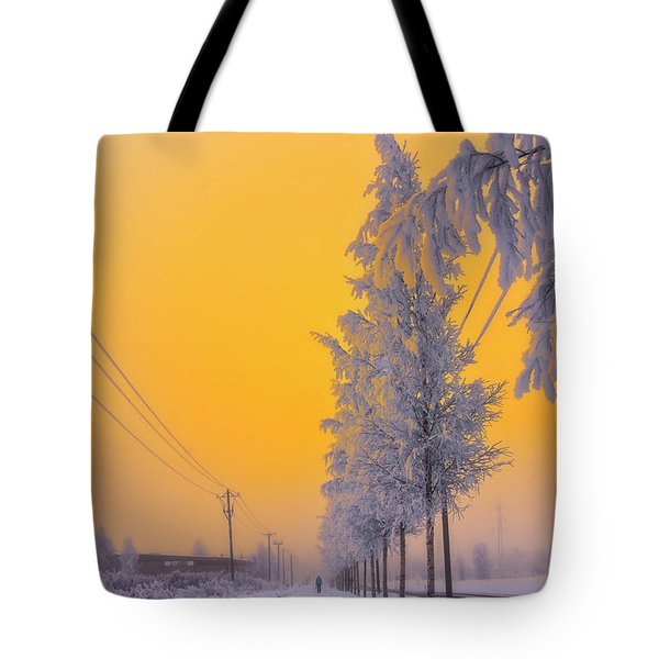 Winter Road 2 Tote Bag