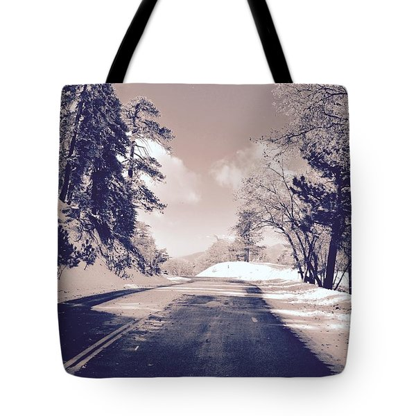 Winter Roads Tote Bag