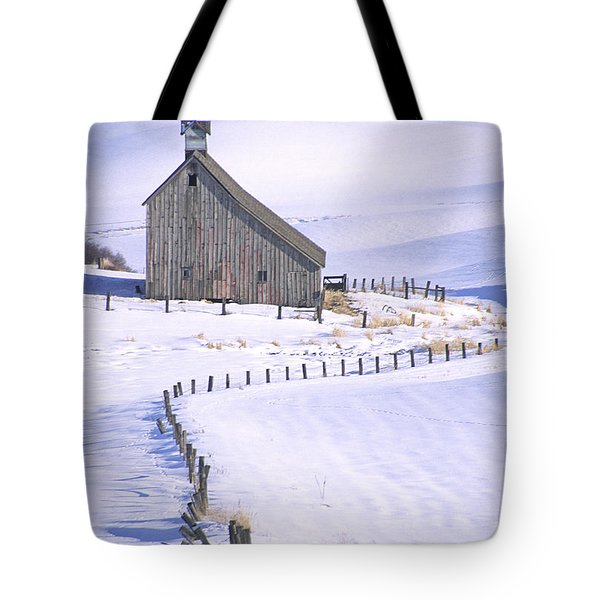 Winter Salt Barn Tote Bag