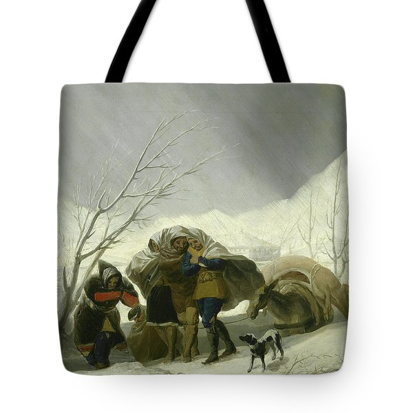 Winter Scene Tote Bag by Goya