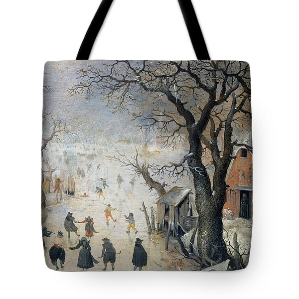 Winter Scene Tote Bag by Hendrik Avercamp