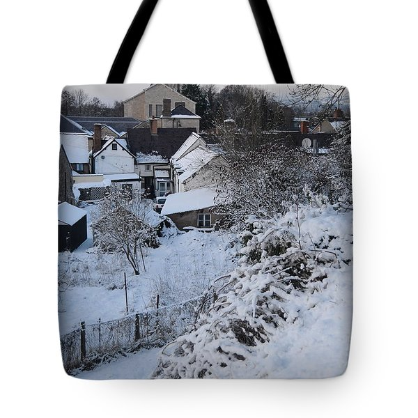 Tote Bag featuring the photograph Winter Scene In North Wales by Harry Robertson