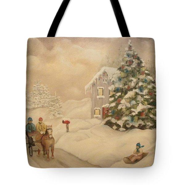 Winter Scene Tote Bag by John Stuart Webbstock