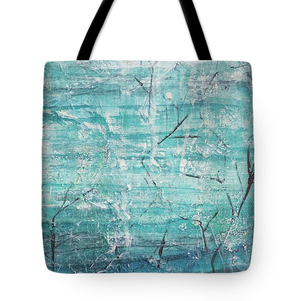 Tote Bag featuring the painting Winter Scene Portrait by Jocelyn Friis