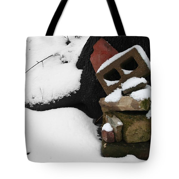 Tote Bag featuring the photograph Winter Sculpture by Dylan Punke