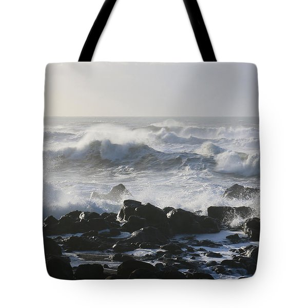 Tote Bag featuring the photograph Winter Sea by Jeanette French