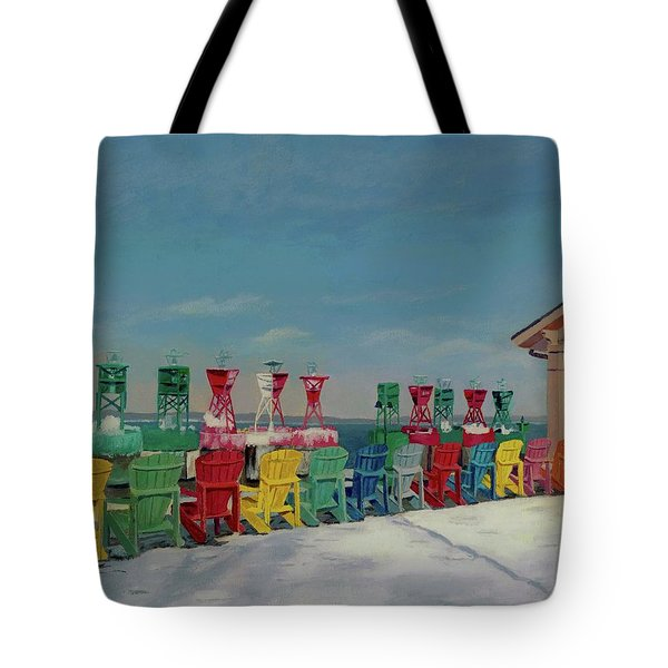 Winter Sentries Tote Bag