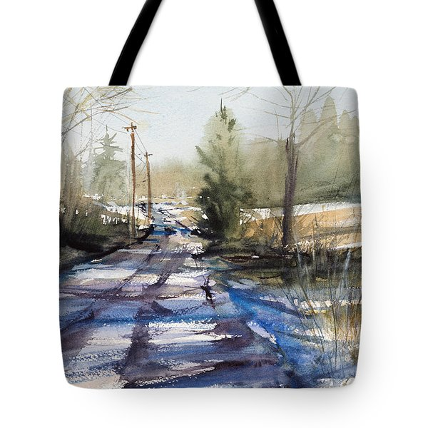 Winter Shadows  Tote Bag by Judith Levins