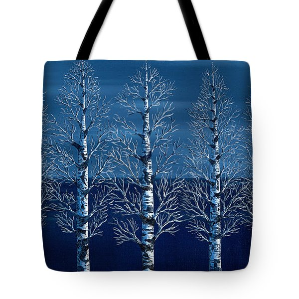 Winter Shadows Tote Bag by Rebecca Parker