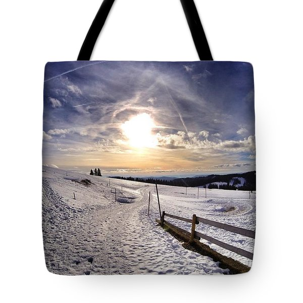 Winter Sky Tote Bag
