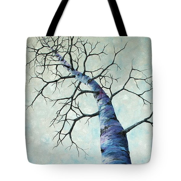 Tote Bag featuring the painting Winter Sky by Melinda Cummings
