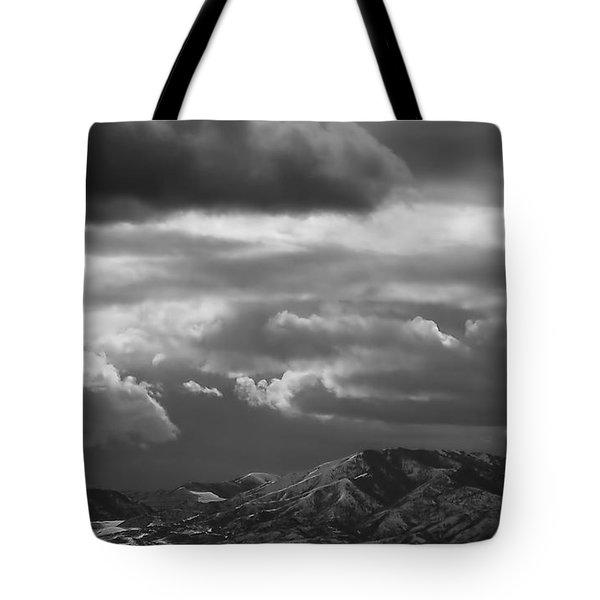 Winter Sky Tote Bag by Rona Black