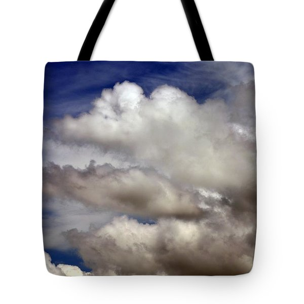Winter Snow Clouds Tote Bag