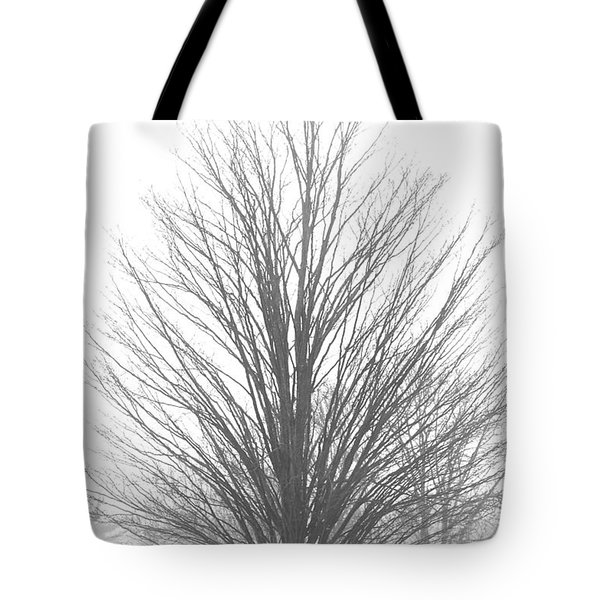 Winter Snow Fog Tote Bag