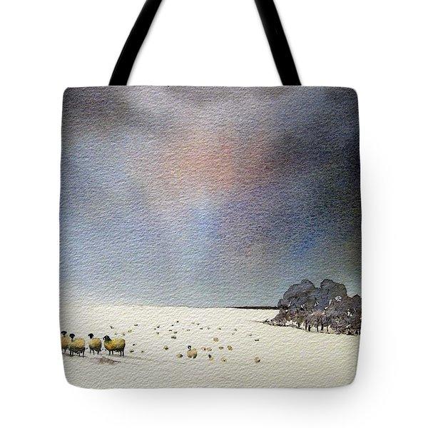 Winter Snow Swaledale Tote Bag by Paul Dene Marlor