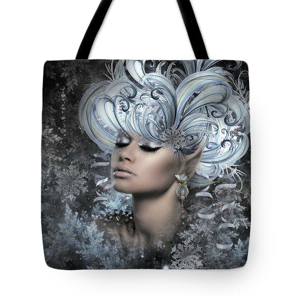 Winter Snowflakes Tote Bag