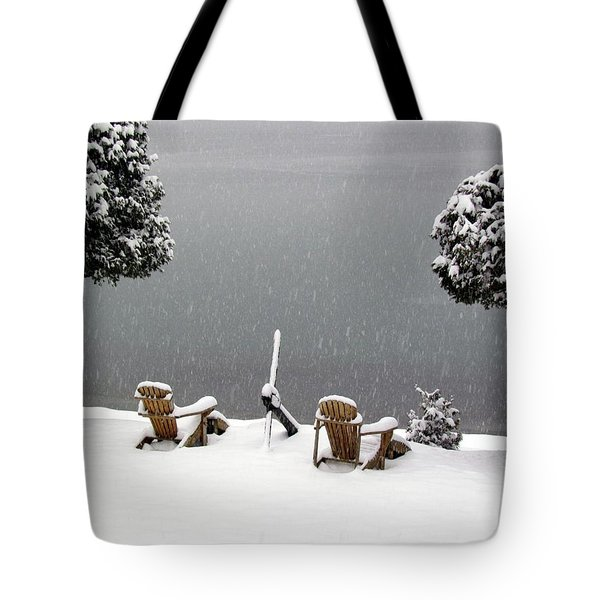 Winter Solitude Tote Bag