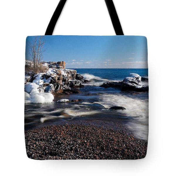 Winter Splash Tote Bag by Sebastian Musial