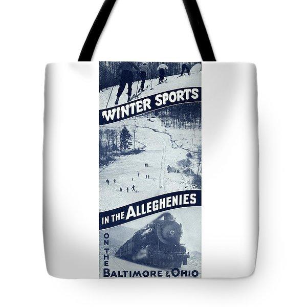 Winter Sports In The Alleghenies Tote Bag