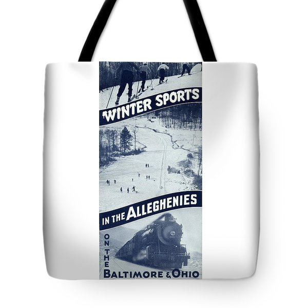 Winter Sports In The Alleghenies Tote Bag