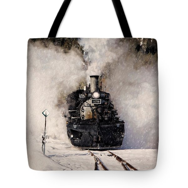 Winter Steam At Rockwood Colorado Tote Bag