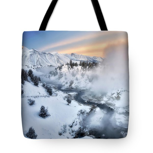 Winter Steam  Tote Bag by Nicki Frates