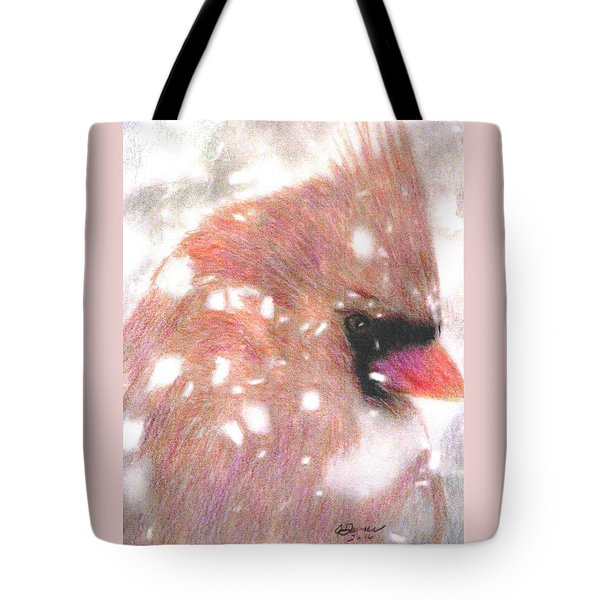 Winter Storm Tote Bag by Angela Davies