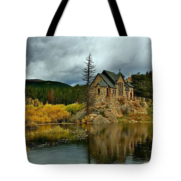Winter Storm Over Saint Malo Tote Bag by Stephen  Johnson